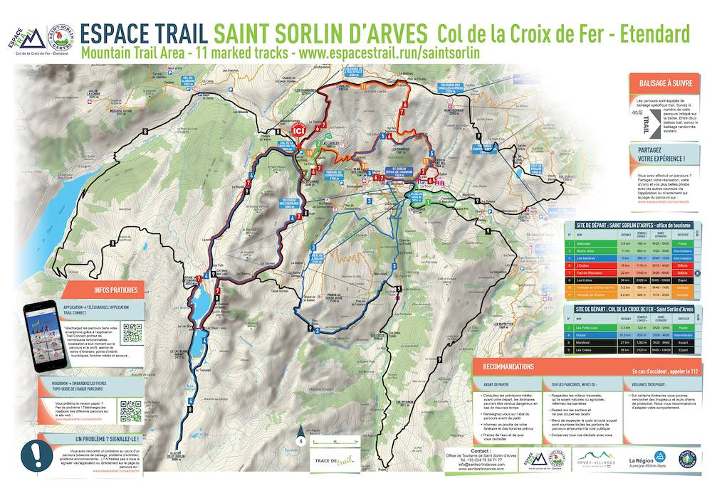 Plan parcours Espace Trail © Espace Trail