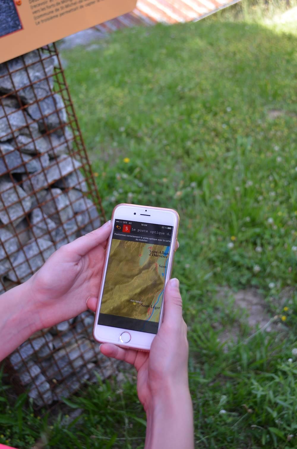 Application mobile secret défense © OT Porte de Maurienne