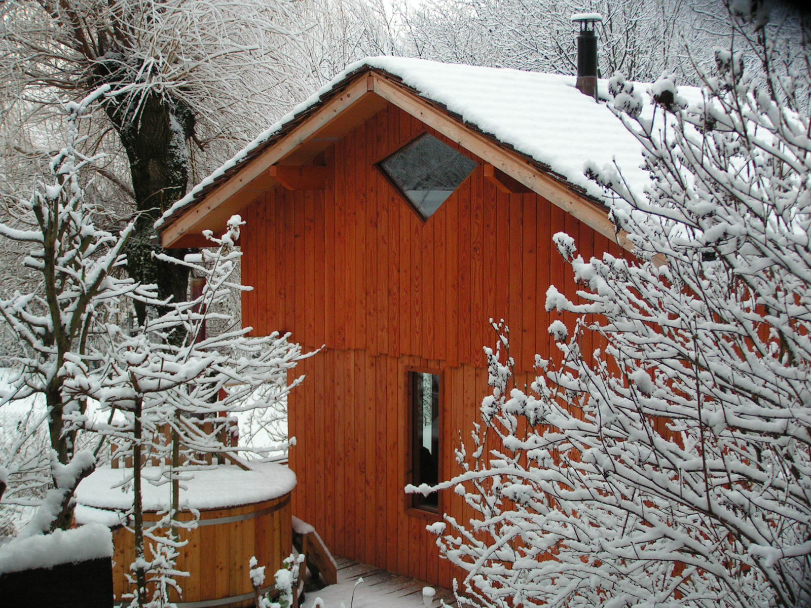 Le chalet en hiver © Kokocinelle