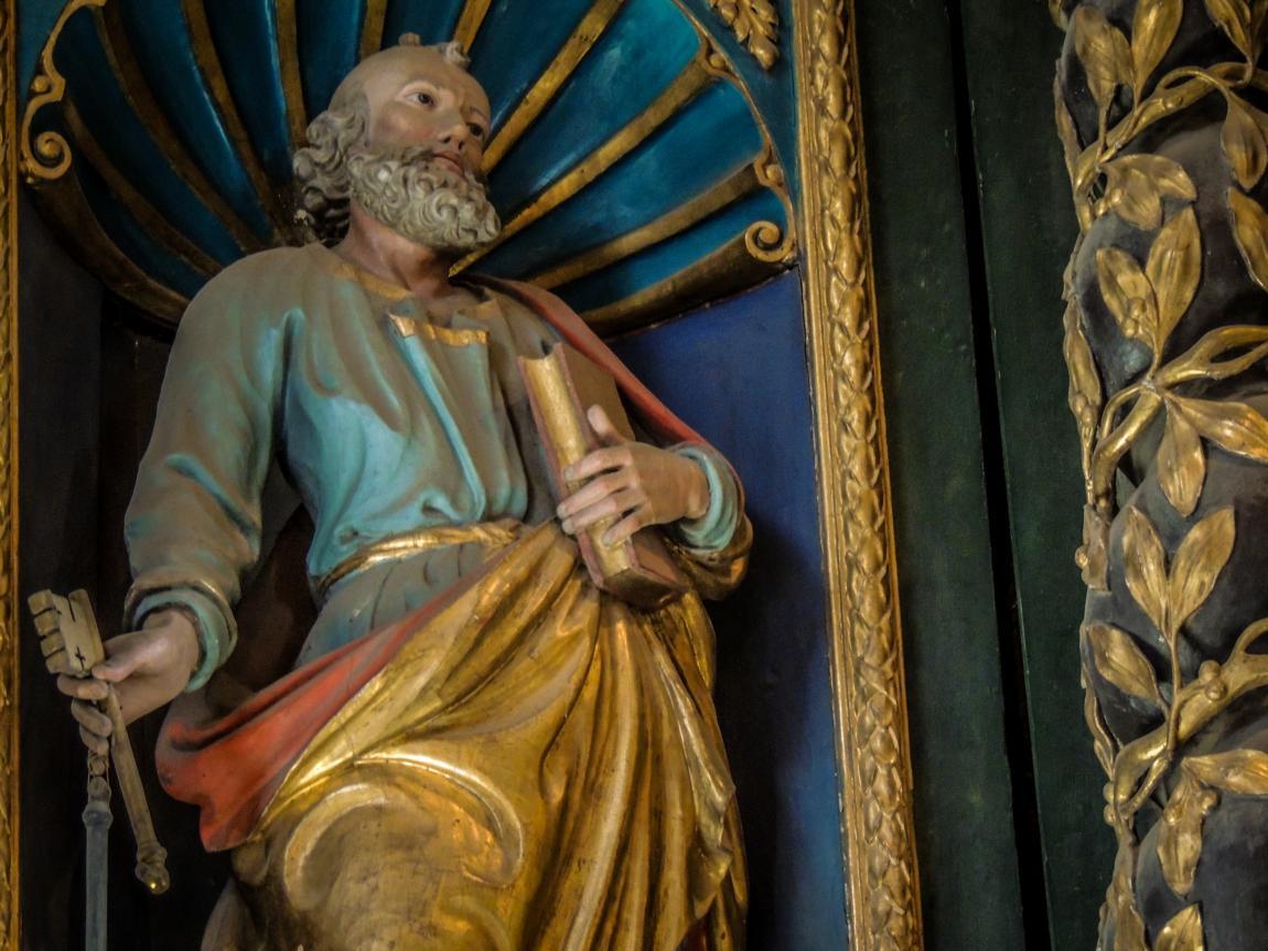 Statue de l'Eglise baroque St Saturnin © A. Bouler pour l'Office du Tourisme de Saint Sorlin d'Arves