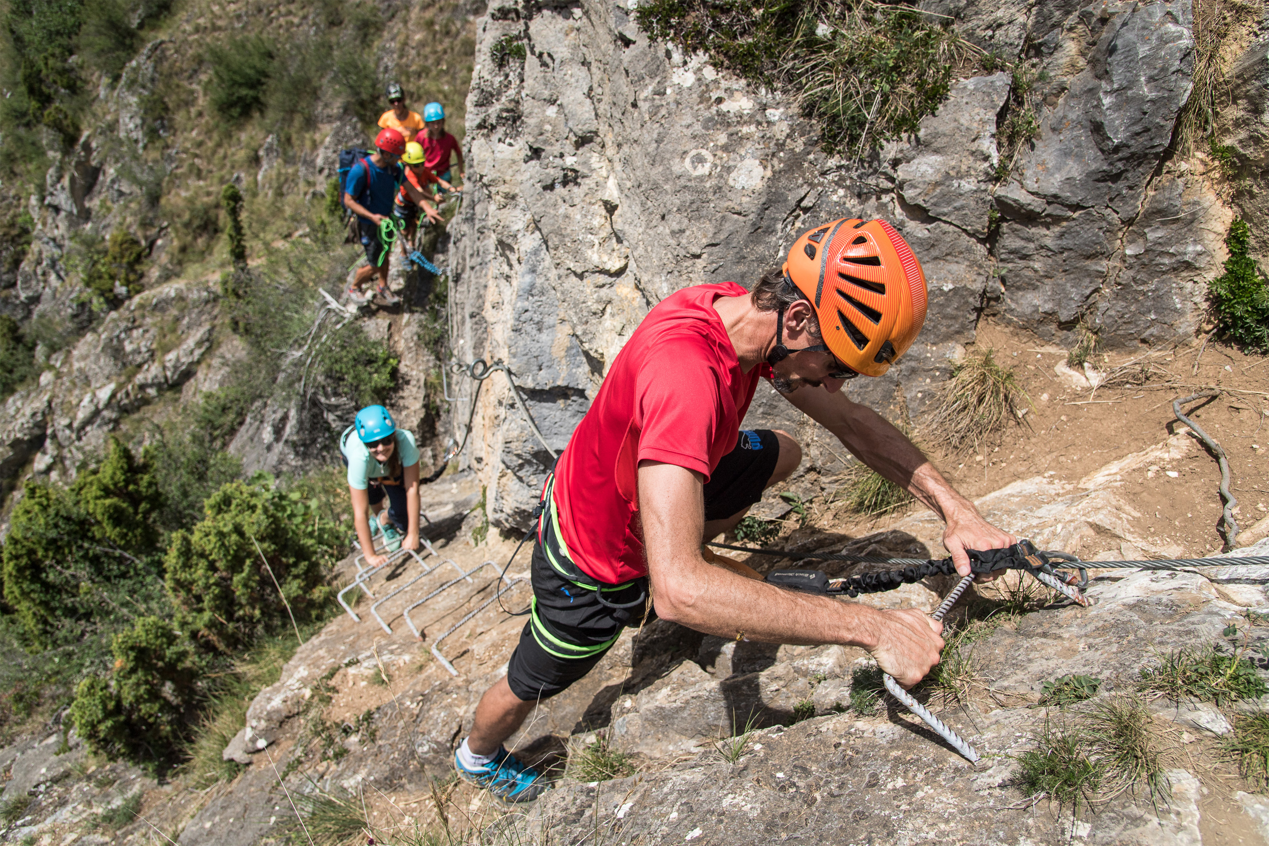 Climbing and Via Ferrata areas © A. Pernet / Ot Valloire