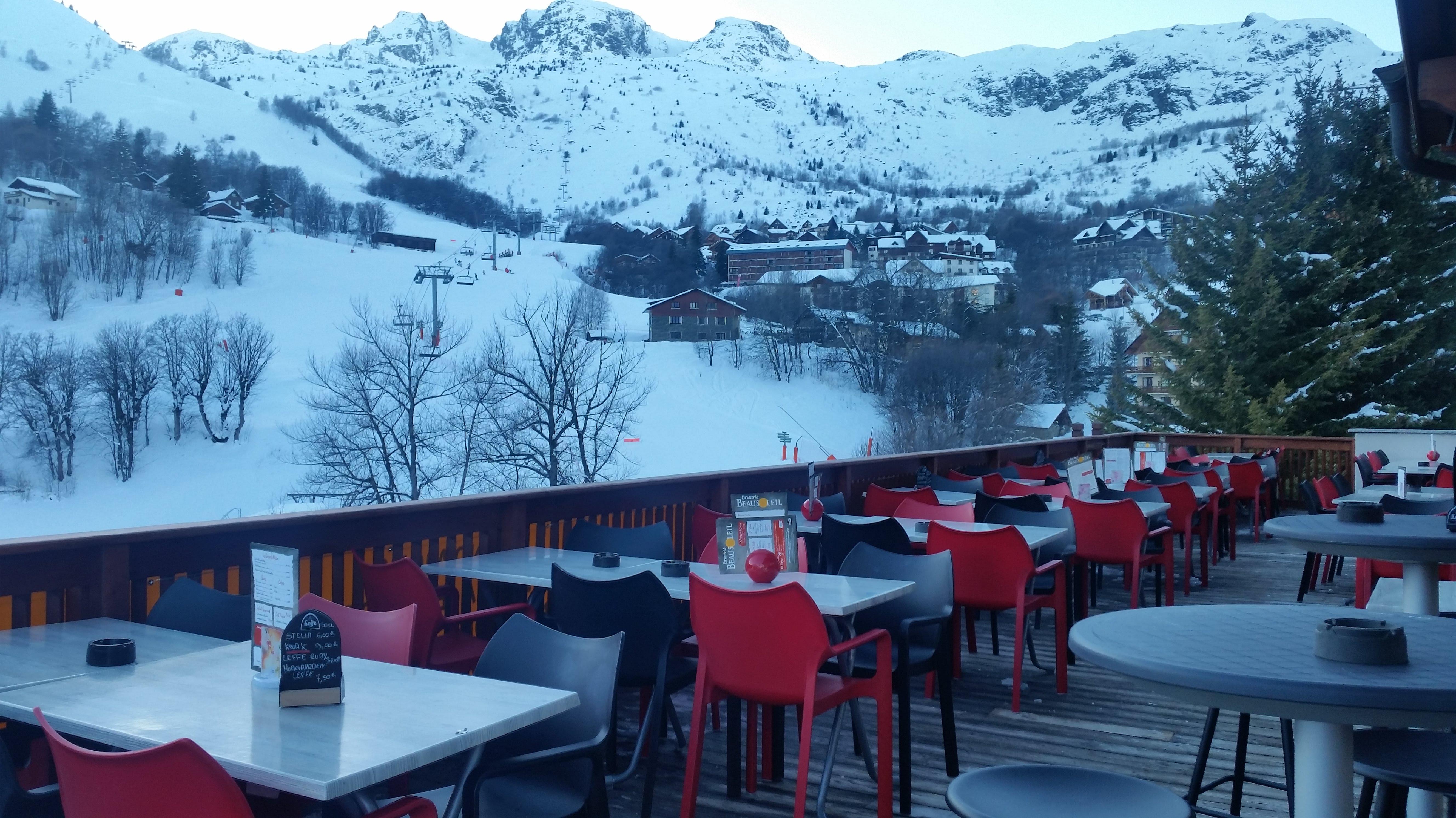 restaurant brasserie beausoleil saint sorlin arves sybelles ski