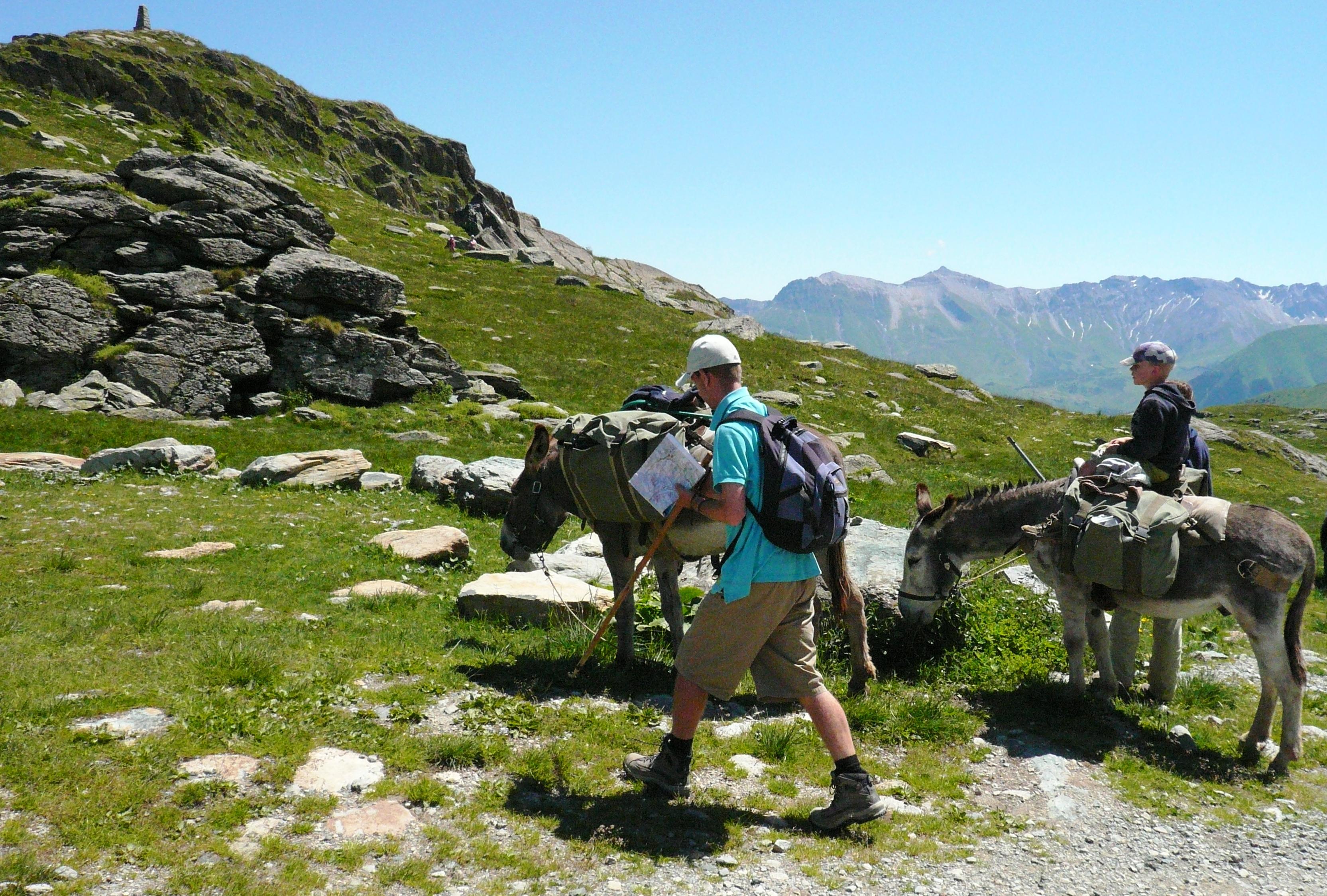Hiking with donkeys © Office de Tourisme de Saint Sorlin d'Arves