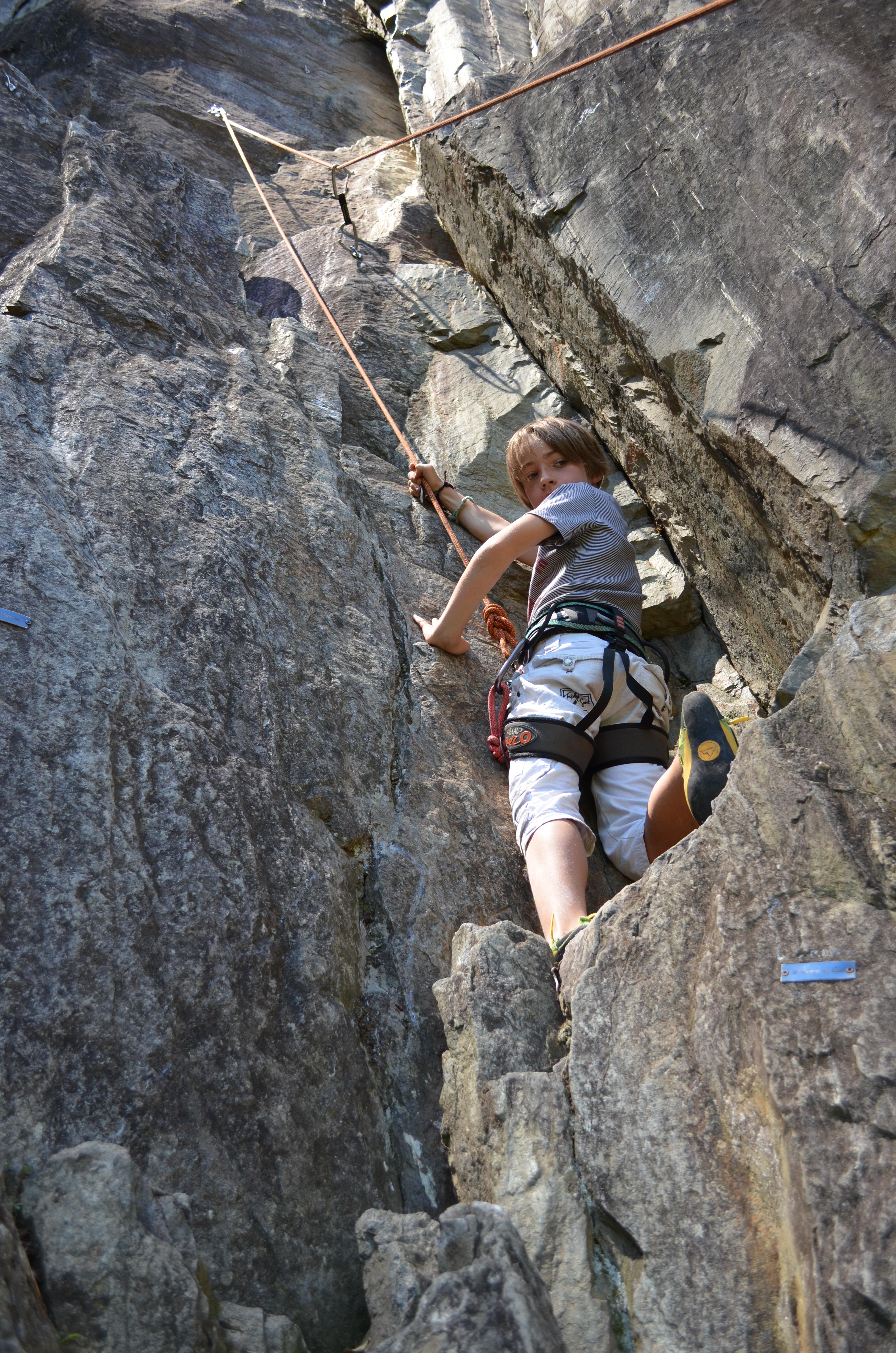 Falaise d'escalade de Saint-Leger © Jacqueline Guillaume