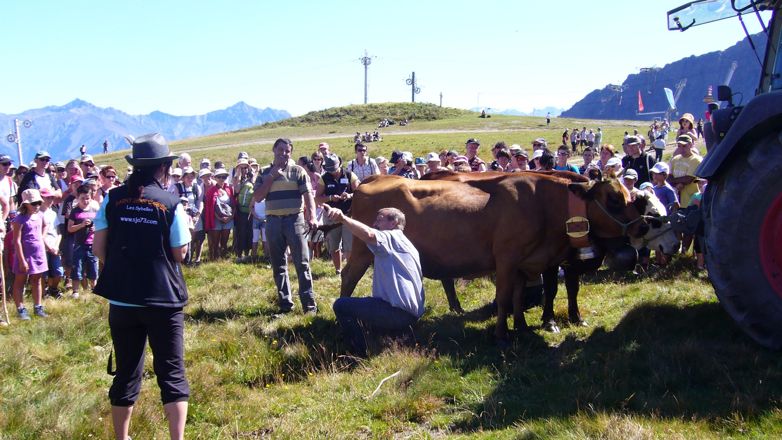 Alpage en fête au Crêt de Pralud ©