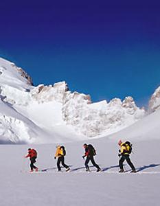 Ski touring framed - © Bureau des Guides de Montagne