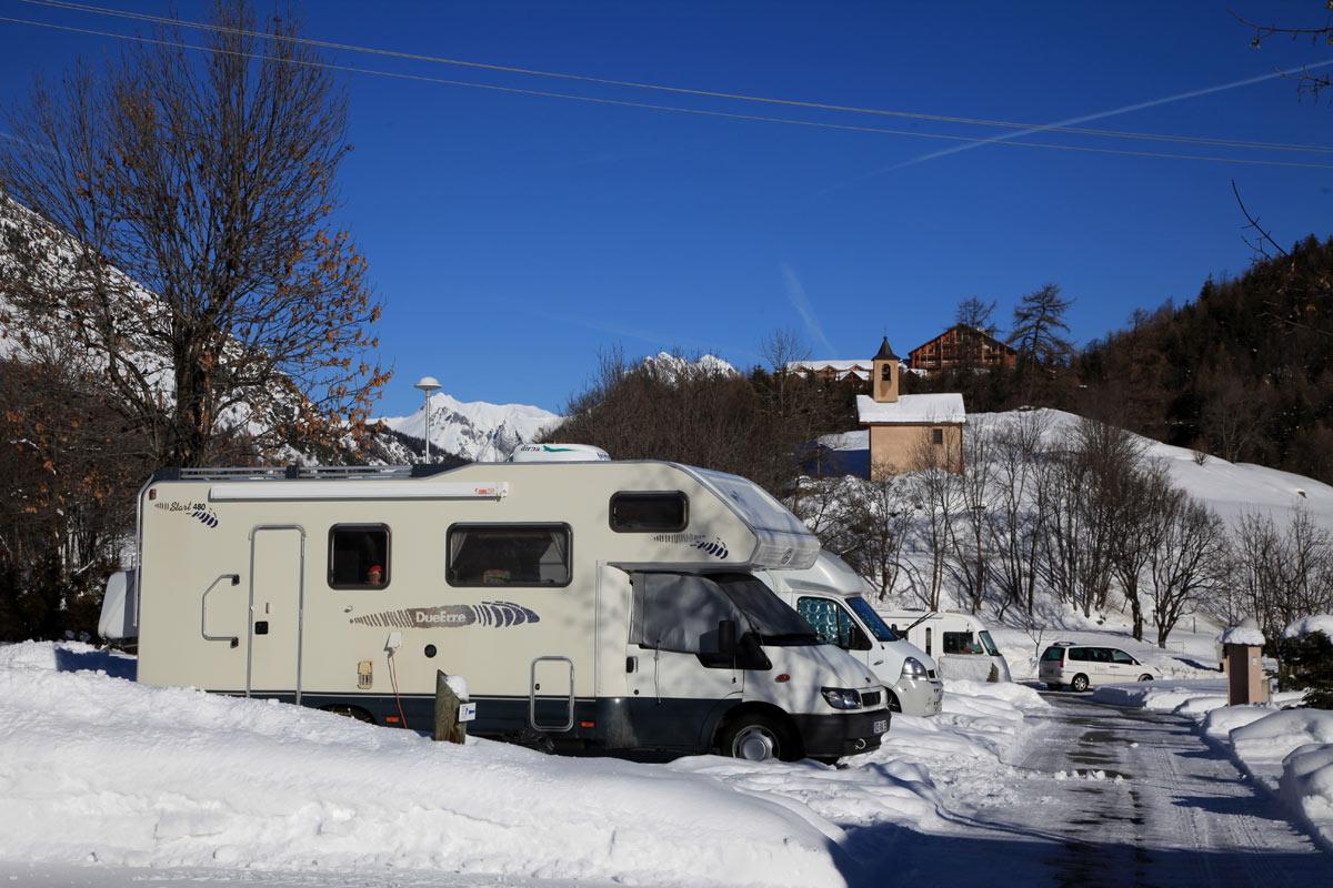 Camping Ste Thècle - Hiver © Pascal Delannoy / Ot Valloire