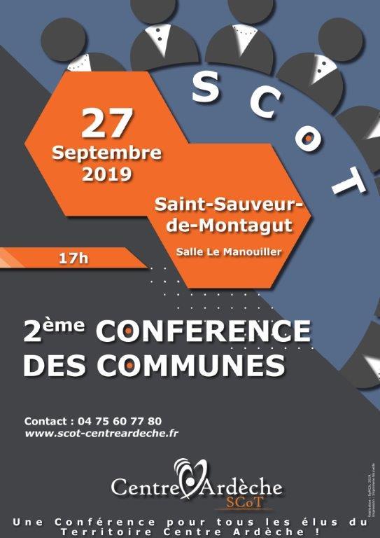 CONFERENCE DES COMMUNES 27 SEPTEMBRE 2019
